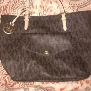 Authentic Michael Kors Monogrammed Tote